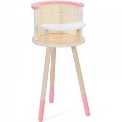 Aukšta medinė kėdutė žaislams