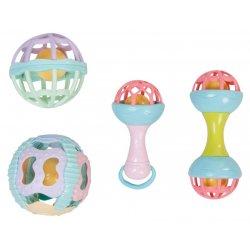 Keturių žaisliukų rinkinys kūdikiams