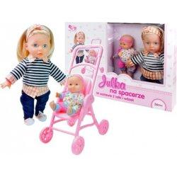 Lėlytė su savo lėliuku bei vežimėliu