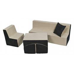 Fotleiuko - sofos ir staliuko komplektas (įvairios spalvos)