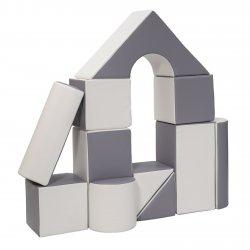 "Minkštų kaladėlių komplektas ""Building block"" / 11 vnt."