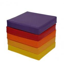 Kvadratinių grindų pagalvėlių rinkinys su PVC danga (5vnt.)