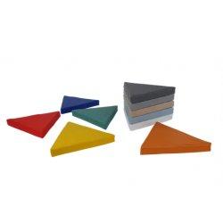 Trikampių grindų pagalvėlių rinkinys 40x5 cm (10vnt.)