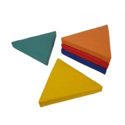 Trikampių grindų pagalvėlių rinkinys 40x5 cm (5vnt.)