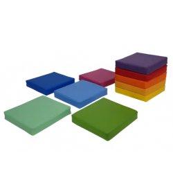 Kvadratinių grindų pagalvėlių rinkinys 35x35cm (10vnt.)