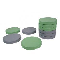 Apvalios pastelinės grindų pagalvėlės 30x5 cm (10vnt.)