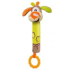 Minkštas žaisliukas - barškutis su kramtuku