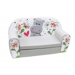 """Vaikiška sofa - """"Mielas begemotas"""""""