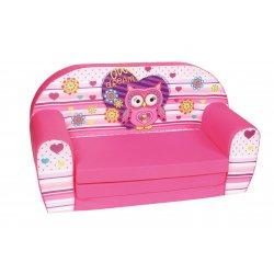 """Rožinė sofa - """"Pelėda"""""""