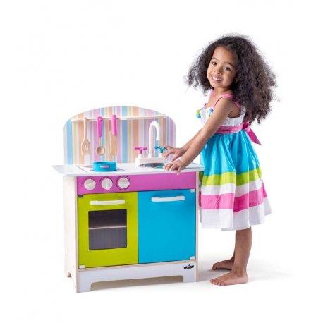 """Vaikiška medinė virtuvėlė - """"Saplvų pasaulis"""""""