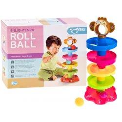 Interaktyvus spalvų bokštas su kamuoliukais