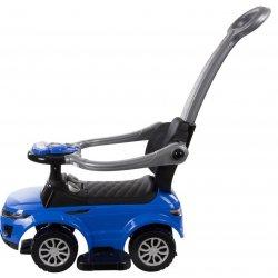 Mėlyna sportinė paspiriama mašinėlė