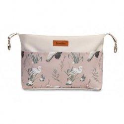 Rožinis ''Sensillo'' vežimėlio krepšys