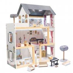 """Medinis lėlių namelis su baldais """"Svajonių vila"""""""