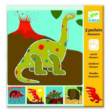 """Djeco Trafaretų rinkinys """"Dinozaurai"""""""