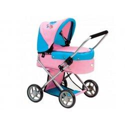 Lėlės vežimėlis su išimamu lopšiu