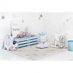 """Smėlio spalvos vaikiškas kilimas - """"Hippy Stars"""""""