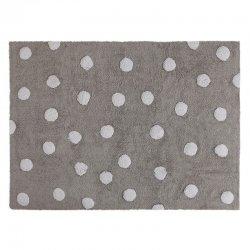 Pilkas kilimas su baltais taškučiais