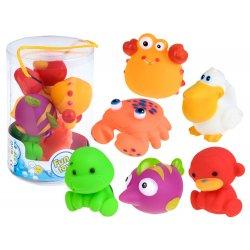 Spalvotų vonios žaislų rinkinys