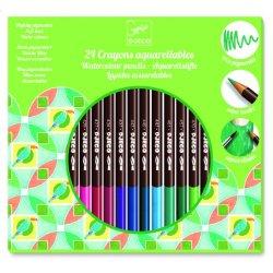 Djeco 24 spalvų vandeninės kreidelės