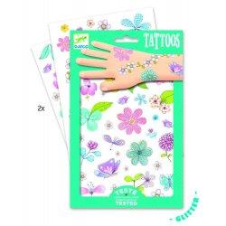 """Djeco laikinosios tatuiruotės """"Gėlių laukai"""""""