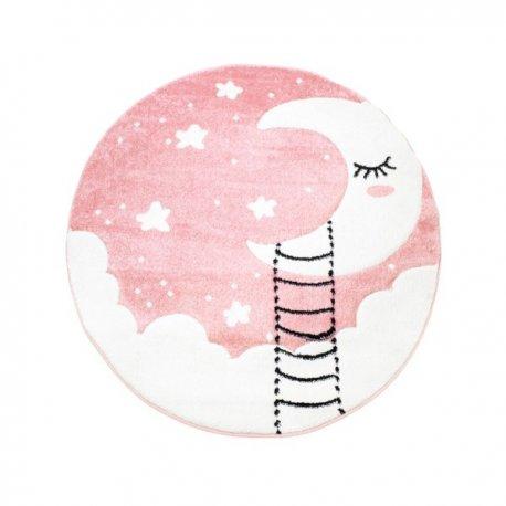 """Rožinis vaikiškas kilimas """"Mėnulyje"""""""