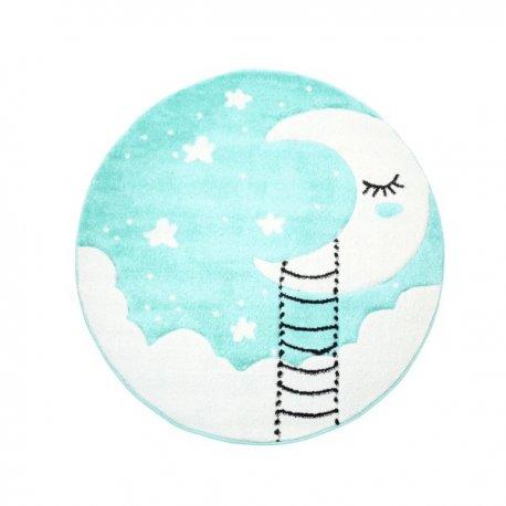 """Mėtinis vaikiškas kilimas """"Mėnulyje"""""""