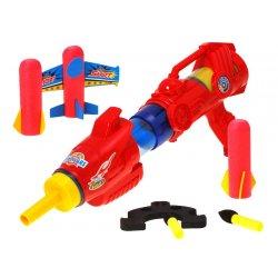 Raudonas vaikiškas šautuvas
