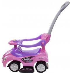 """Rožinė paspiriama mašinėlė - """"Mega"""""""