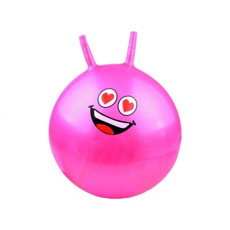 Rožinis vaikiškas gimnastikos kamuolys 43 cm