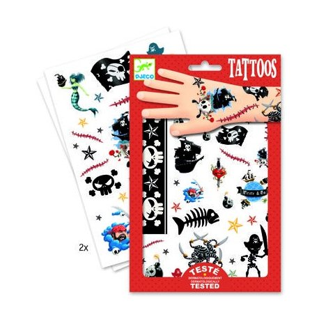 """Djeco vaikiškos tatuiruotės """"Piratai"""""""