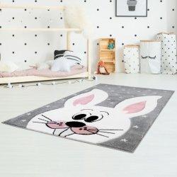 """Pilkas kilimas vaikų kambariui """"Zuikis"""""""