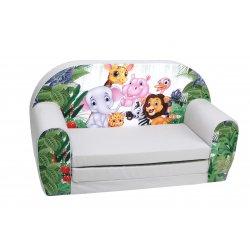"""Vaikiška pilka sofa - """"Zoo parkas"""""""