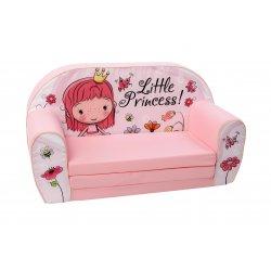 """Šviesiai rožinė vaikiška sofa - """"Mergaitė"""""""