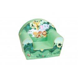 """Žalias vaikiškas foteliukas - """"Zoo sodas"""""""
