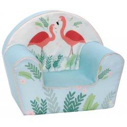 """Žydras foteliukas - """"Flamingai"""""""