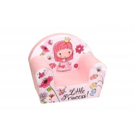 """Rožinis vaikiškas fotelis - """"Miela mažoji princesė"""""""