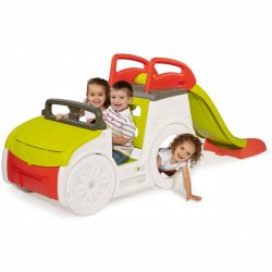 Smoby mašinėlė su čiuožykla bei smėlio dėže