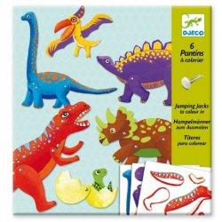 """Djeco rinkinys lėlės marionetes """"Dinozaurai"""""""