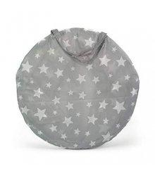 Pilka vaikiška palapinė su žvaigždelėmis