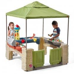 Step2 žaidimų namelis su stogeliu ir priedais