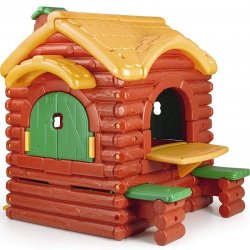 Žaidimų namelis su staliuku ir suoliukais