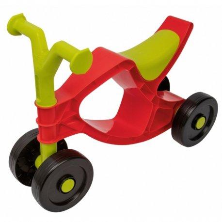 Raudonas vaikiškas paspiriamas dviratukas