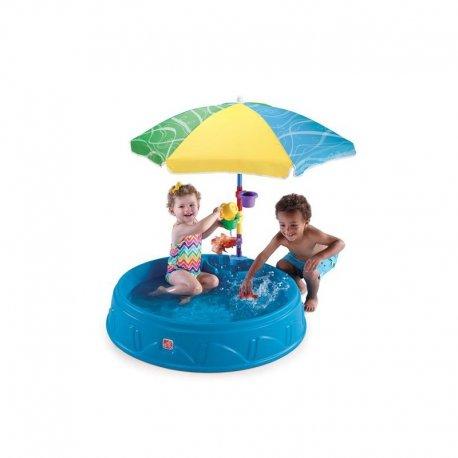 STEP2 Vandens - smėlio baseinas su skėčiu nuo saulės