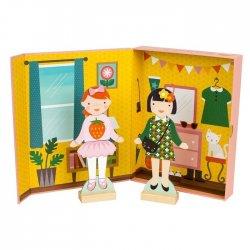 Petit Collage magnetukų rinkinys aprengti mergaitėms