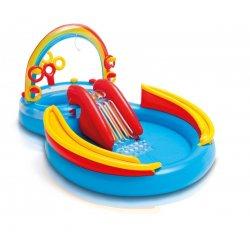 """Mėlynas pripučiamas baseinas - """"Žiedeliai"""""""