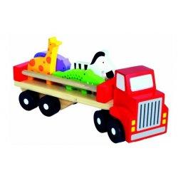 Medinis sunkvežimis su gyvūnėliais 18mėn+