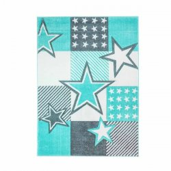 Mėtinės spalvos kilimas su žvaigždėmis