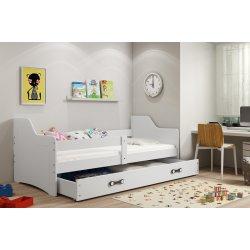 "Balta viengulė lova vaikams - ""Sofix"""