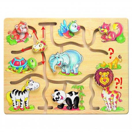 """Medinis labirintas """"Afrikos gyvūnai"""", 12 mėn.+"""